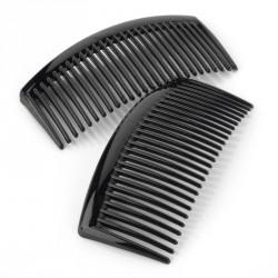 Two piece black colour 9.5cm hair side comb set. - (HA28508)