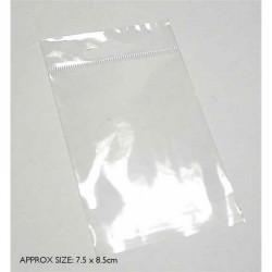 7.5cm x 8.5cm plastic bag...