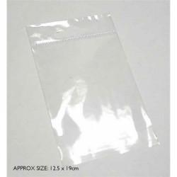 12.5cm x 19cm plastic bag...