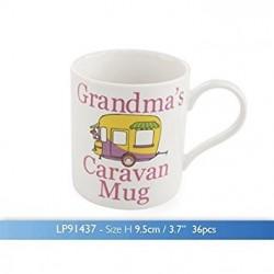 Caravan Motorhome China Mug Coffee Cup Tea Mugs Gift Novelty Set New, Grandmas Caravan Mug
