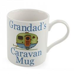 The Leonardo Collection Grandad's Caravan Novelty Gift Boxed Mug, White