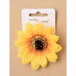Hair flower - Large fabric sunflower on a 4.5cm hair clip