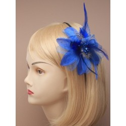 Fascinator Aliceband - Feather Flower on a wound metal alice band