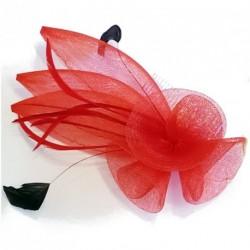 fascinator kam - store coiled maske blomst og fjer fascinator redes