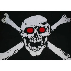 Large skull and crossed bones pirate flag bandana