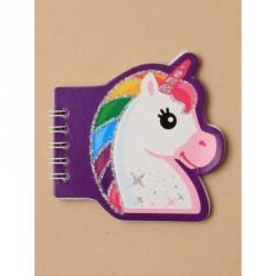 Notebook - Children's Glitter unicorn spiral notebook.