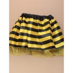 Tutu - Child size bumble bee satin tutu with yellow net underlayer 15-28in Waistband tutu