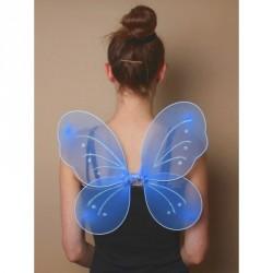Small blue fairy wings with frosty glitter butterfly wings