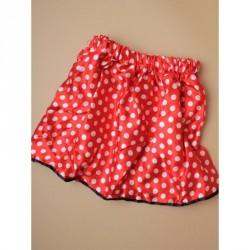 Tutu - Red satin fabric tutu with white polka dot minnie...