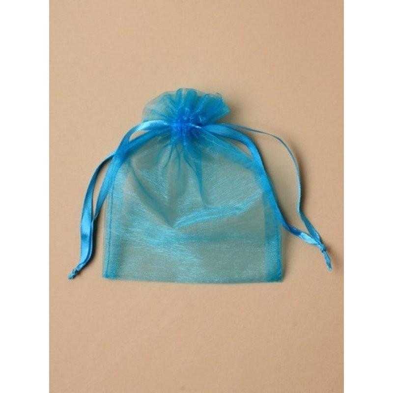 Organza gift bag - Turquoise organza bag