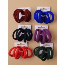 Card of 6 Thick School coloured Jersey fabric endless elastics. In Royal blue,navy,red,bottle green,purple or burgundy