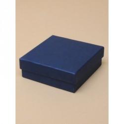 Gift box - Navy gift box. Black flocked foam pad insert...