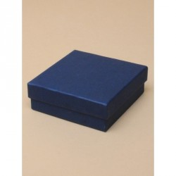 Gift box - Navy gift box. Black flocked foam pad insert with two corner slits for a chain and a centre 40mm slit.