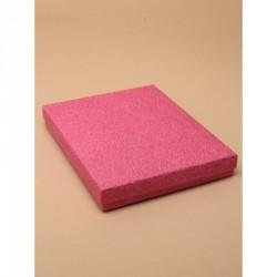 Gift box - Fuchsia pink gift box. Black flocked foam pad...