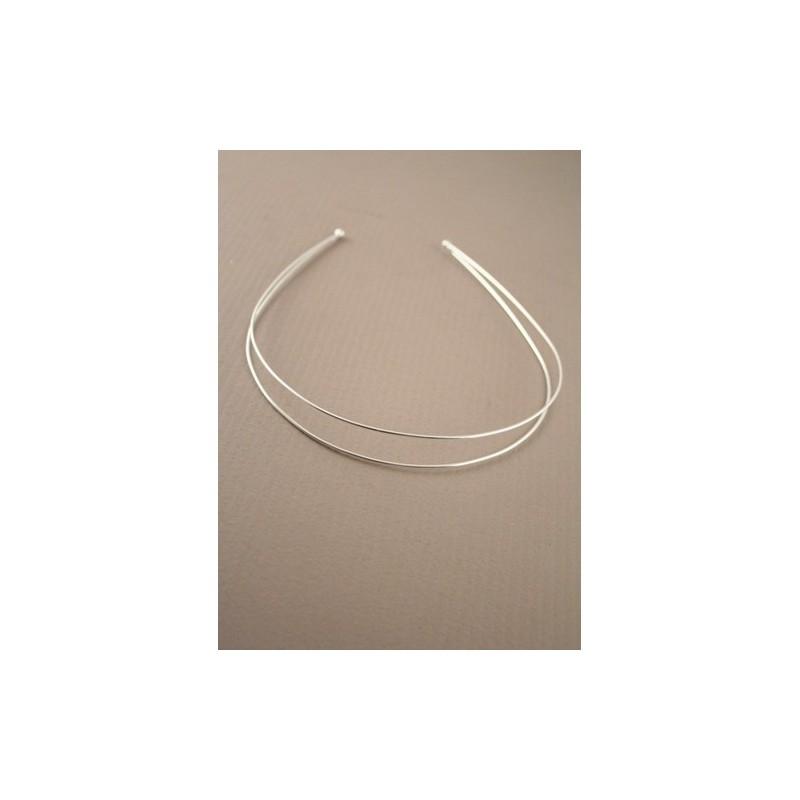 silv double round wire alice / tiara band.