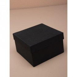 Gift box - Square black gift box with lid and black foam...