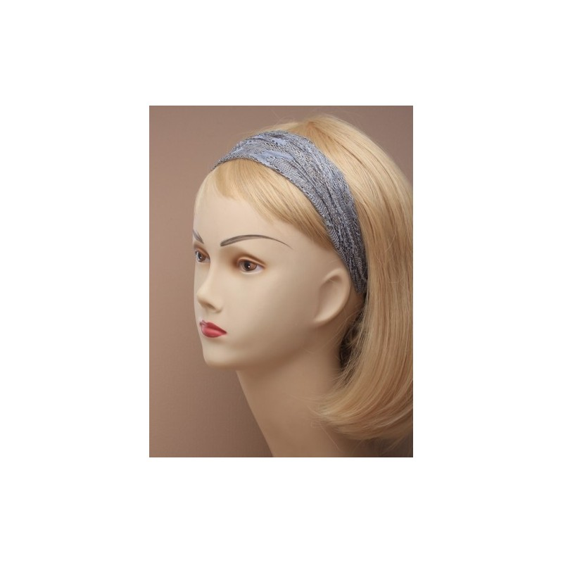 レース生地の伸縮 headwrap ヘアバンド。ピンク ・ グレーとクリーム色の品揃えで。