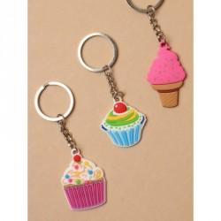 Keyring - Cupcake Charm keyring In 3 designs per pack