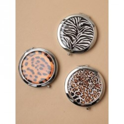 Compact Mirrors - Silv Animal compact with double mirror In zebra,leopard and cheetah