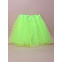 Tutu - Green net child size Tutu with triple layered skirt Waistband 16 - 38in