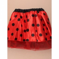 Tutu - Child size ladybird satin tutu with red net...