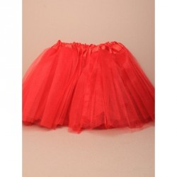Tutu - Waistband approx18-30in Red net child size tutu with triple layered skirt