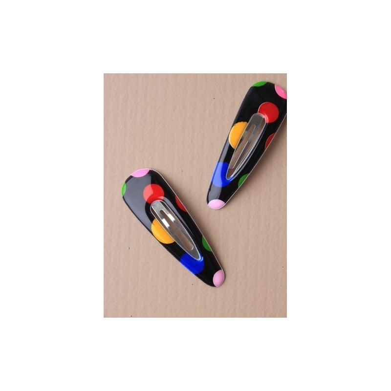 carte de sleepies de pvc brillant couleur spotty 6 cm 2. rouge/noir/rose/bleu/blanc et pastel Rose.