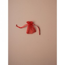 Organza Gift Bag - Size approx: 7 x 5cm Red organza gift bag