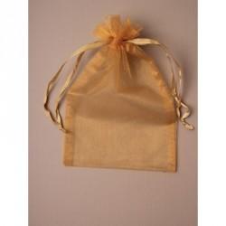 Organza Gift Bag - Size approx: 22 x 15cm Dark Gold...