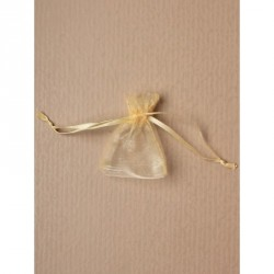 Organza Gift Bag - Size approx: 7 x 5cm Light Gold...
