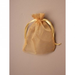 Organza Gift Bag - Size approx: 15 x 11cm Light Gold...
