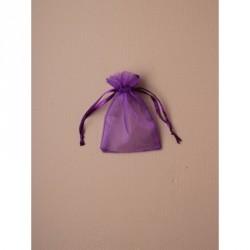Organza Gift Bag - Size approx: 10x75cm Purple ribbon...