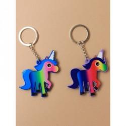 Keyring - Brightly coloured plastic Unicorn keyringIn 2 colour waysSize : 7cm