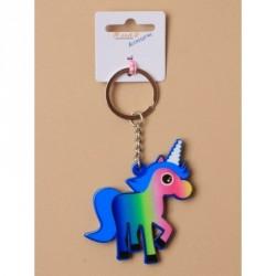 Keyring - Brightly coloured plastic Unicorn keyringIn 2...