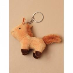 Keyring - Soft Pony KeyringIn White,brown and chestnut