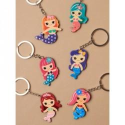 Keyring - Brightly coloured plastic Mermaid keyringIn 6 coloursSize : 5cm