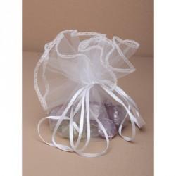 Organza Gift Bag - Diameter 33cm Large white circular...