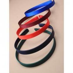 Headband - 14cm wide school coloured satin fabric aliceband In red, navy, burgundy, green, royal blue