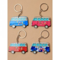 Keyring - Brightly coloured plastic campervan keyringIn 4...