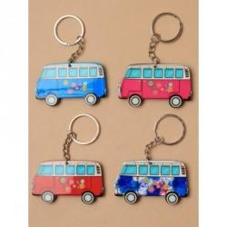 Keyring - Brightly coloured plastic campervan keyringIn 4 coloursSize : 6cm