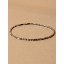 Diamante crystal stretch anklet