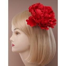 pico cabello clip & broche pin - flor de declaración de la diapositiva de agarre de pelo pico bifurcada de rojo o negro