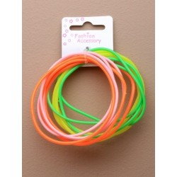 Neon gummy bangles x 12 bangles