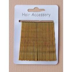 Kirby Hair Grips - 30 blonde 65mm waved hairpin hair grip slides