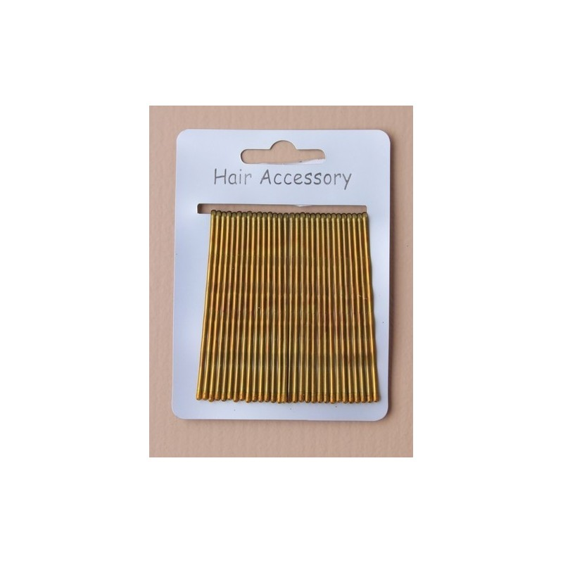 card of 30 blonde 6.5cm kirby grips.