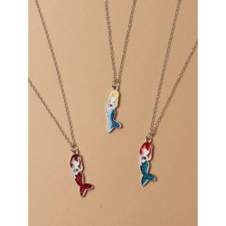 Gift Box - Mermaid pendant chain necklaceIn 3 ColoursLength : 15in + 2in extension chain
