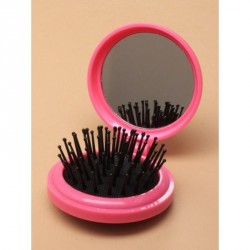 Hairbrush - Compact Mirrors - Folding round compact hair...