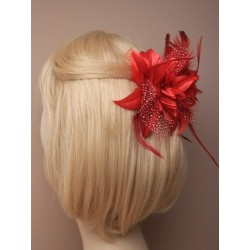 Hair Clamp - brightly coloured chiffon layered flower hair clamp
