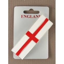 8cm enamel george cross / england world cup flag barrette.