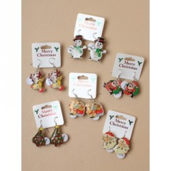 Earrings -  Christmas -  Clip strip of 12 pairs of...